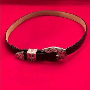 Brighton Croc Design Leather Belt M -30